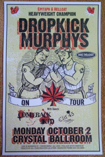 DROPKICK MURPHYS 2006 Gig POSTER Portland Oregon Concert
