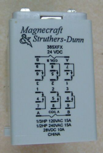 Magnecraft & Struthers-Dunn 385XFX-24D 24 VDC 385 Mechanical Latching Relay