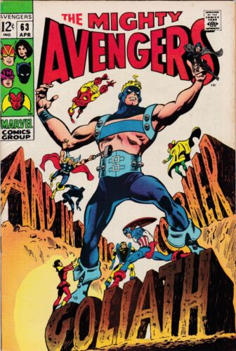 The Avengers 63 VF-  New Goliath