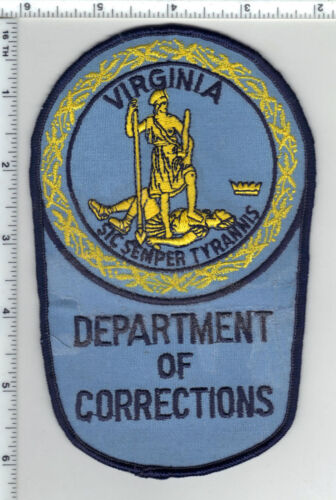 Department of Corrections (Virginia) Stained Shoulder Patch from the 1980