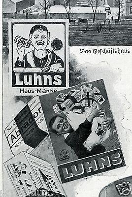 Seifenfabrik Luhn Barmen XL Reklame 1908 Seife Soap Werbung Kessel