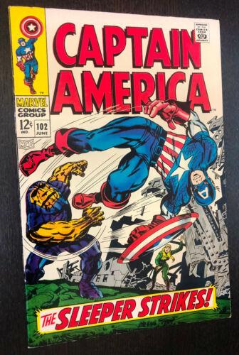 CAPTAIN AMERICA #102 (Marvel 1968) -- Jack Kirby -- VF+
