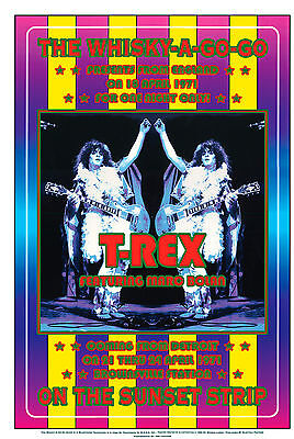 Hard Rock: T-REX  at The Whisky A Go Go Concert Poster 1972