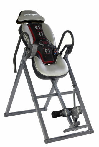 Inversion Table with Spine & Lumbar Advanced Heat and Massage Therapy Lumbar Pad