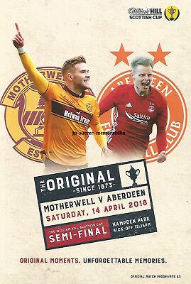 Motherwell v Aberdeen - Scottish Cup Semi-Final - 14 April 2018 - MINT