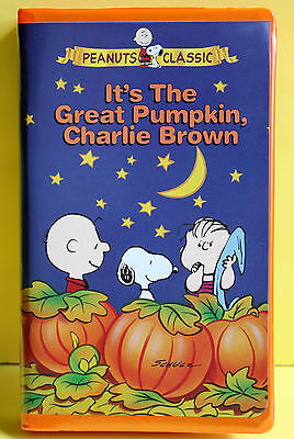 ITS THE GREAT PUMPKIN CHARLIE BROWN VHS Classic Peanuts Halloween