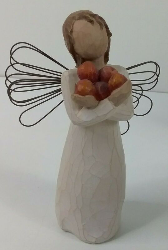 "Willow Tree ""Good Health"" Angel & Apple Figurine Demdaco 2003 Susan Lordi No Box"