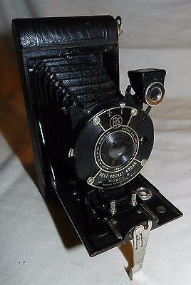 Vintage Eastman Kodak Vest Pocket Model B folding camera with leather case
