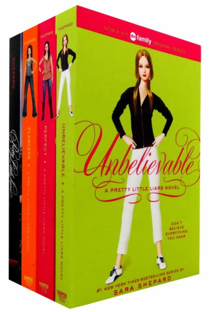 Pretty Little Liars 4 Books Box Set Collection By Sara Shepard, Unbelievable...