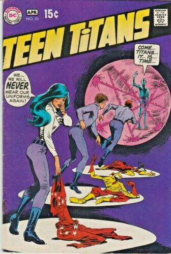 TEEN TITANS ORIGINAL SERIES #26  FIRST APPEARANCE MAL DUNCAN   DC 1970  NICE!!!