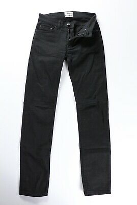 Acne Studios Mens Ace Stay Cash Black Stretch Denim Jeans 28 x 31 $230