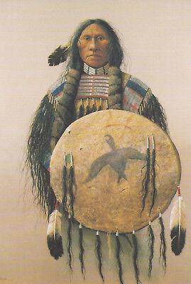 Ansichtskarte Indianer: Malerei von Mark Rohring: Dream Shield - Indianerporträt