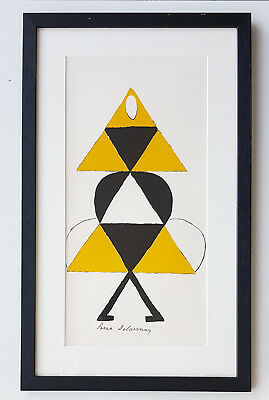 Sonia Delaunay-Lithograph-Hand Signed-1977-La danseuse jaune