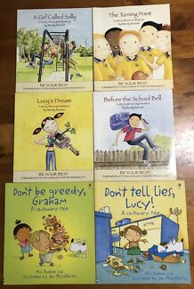 6 x Kids books encouraging positive personality $15 the lot p/up 2567