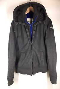 LIKE NEW! Grey Abercrombie & Fitch Hoodie
