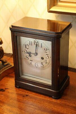 A Good Antique Edwardian Mantel Clock, Gong Strike, Key, GWO