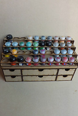Paint Stand 40 pots rack storage Workshop Warhammer Wargames citadel paints GW for sale  Shipping to Canada