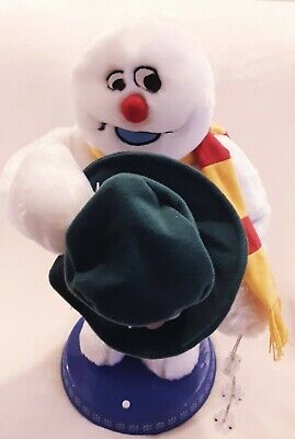Gemmy Frosty The Snowman Christmas Animated Dancing Spinning Snowflake Singing