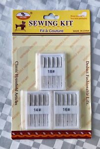 Universal sewing needle packs new