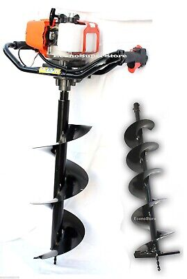 52cc 2.3hp Gas 1 Man Fence Soil Post Ice Hole Digger W6 Earth Auger Bit Epa