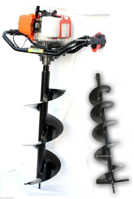 "52cc 2.3HP Gas 1 Man Fence Soil Post ice Hole Digger w/6"" Earth Auger Bit EPA"