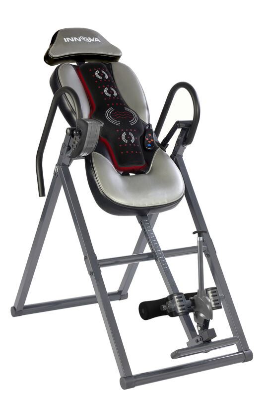 INNOVA INVERSION TABLE with Spine & Lumbar Advanced Heat and Massage Therapy NEW