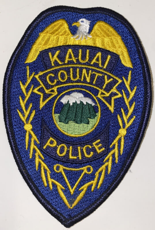 HAWAII KAUAI COUNTY POLICE DEPARTMENT PATCH