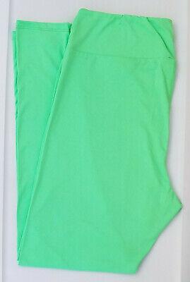 TC LuLaRoe Tall & Curvy Leggings Beautiful Solid Neon Mint Lime Green NWT 17