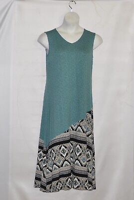 Petite Length - Joan Rivers Petite Length  Sleeveless Maxi Dress Size SP Blue