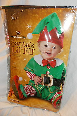 Infant Santa's Lil' Elf Baby Costume Size Small 6-12 Months NEW in - Elf Infant Costume
