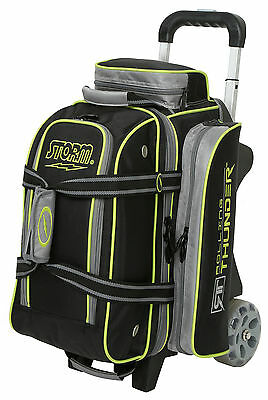 Storm Rolling Thunder 2 Ball Double Roller Bowling Bag Black Grey Lime