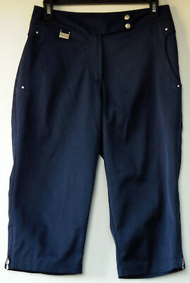 Swing Bette & Court Navy Blue Tanya Fit Polyester Microfiber Capri Golf Pants 6