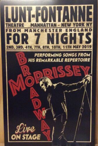 MORRISSEY BROADWAY NYC LUNT FONTANNE THEATRE POSTER THE SMITHS OFFICIAL AMAZING
