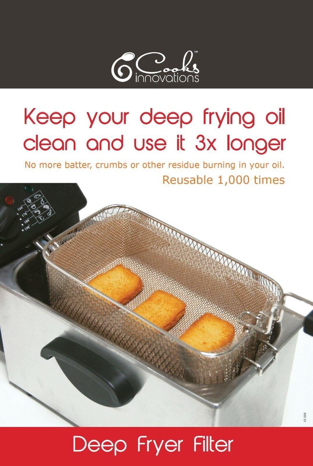 Cooks Innovations Deep Fryer Filter - Reusable - Non-Stick -