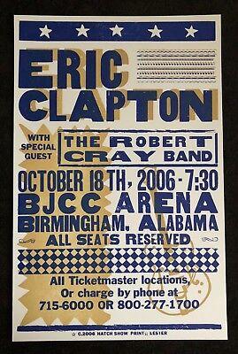 Eric Clapton / Robert Cray Hatch Show Print Concert Poster BJCC Birmingham 2006