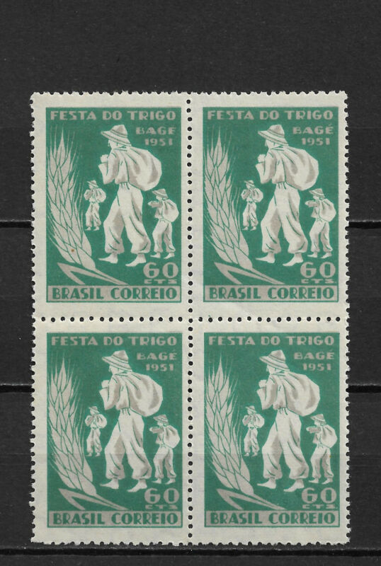 Brazil 1951,Festival of Grain at Bage Block Scott # 715,MNH**