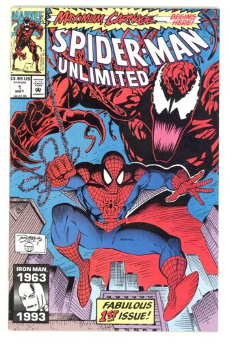 SPIDER-MAN UNLIMITED #1 VF- (7.5) 1ST SHRIEK CARNAGE MARVEL COMICS 1993
