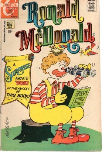 RONALD McDONALD #2 Charlton 1971 Good