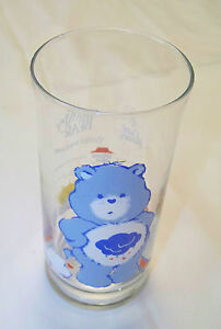Vintage-Glass-CARE-BEARS-GRUMPY-BEAR-1983-Pizza-Hut