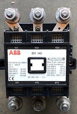 Abb Eh 145 Contactor 3 Pole Controller Eh145