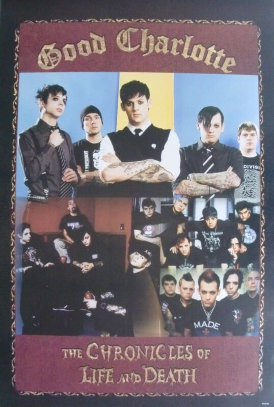 """GOOD CHARLOTTE """"CHRONICLES OF LIFE & DEATH - COLLAGE OF GROUP"""" POSTER FROM ASIA"""