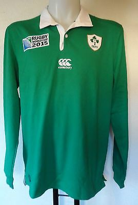 IRELAND RWC 2015 L/S HOME RUGBY JERSEY BY CANTERBURY SIZE LARGE BRAND NEW