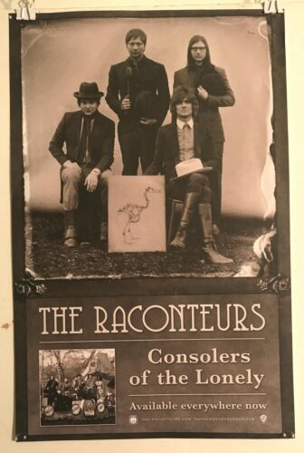 """THE RACONTEURS Consolers Of The Lonely 2009 Warner 11""""x17"""" PROMO Poster VG COND"""