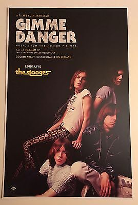 """THE STOOGES PROMO 11""""x17"""" Poster to promote GIMME DANGER album & film Mint"""