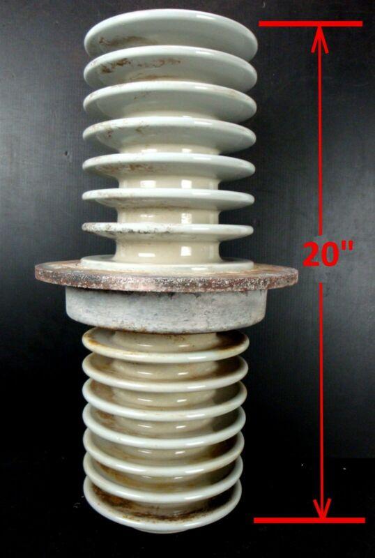 "LARGE 20"" x 7"" POWER LINE - PORCELAIN INSULATOR - 20"" Tall, make a nice LAMP"
