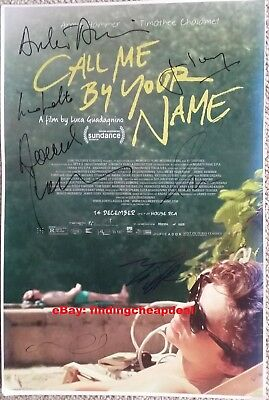 CALL ME BY YOUR NAME GAY MOVIE SIGNED CHALAMET+HAMMER+IVORY POSTER 12x18 REPRINT