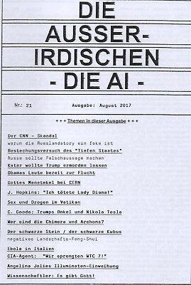 DIE AUSSERIDISCHEN - HEFT 21 - Magazin von Eva Groenke / WTC 7 / Trump / Archons