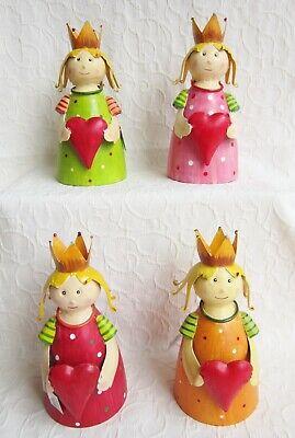 Ein Garten-hocker (Ein Zaun Hocker Schutz Engel 4 Farben Prinzessin Figur Garten Deko Geschenk Idee)