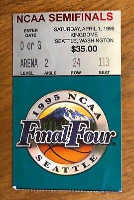 1995 NCAA College Basketball FINAL FOUR TICKET UCLA, ARKANSAS, N.C. & Ok State ()