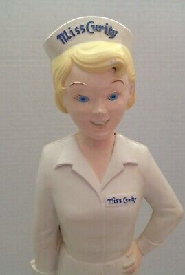 "Vintage 1955 MISS CURITY ADVERTISING FIGURE NURSE 19"" Counter Display, PINUP"